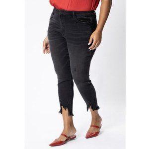 Kancan Black High Rise Chewed Hem Skinny Jeans 31